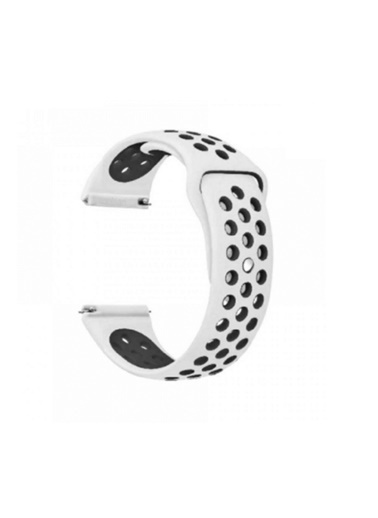 Jacobson Jacobson Apple Watch Silikon Delikli Kordon Iwatch Uyumlu Kayış Seri 42-44mm Beyaz